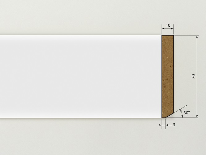 dod plinthe blanc bords droits 2m40. Black Bedroom Furniture Sets. Home Design Ideas