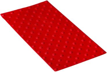 "Dalles podotactiles ""Accessdal"" polyuréthane, 840x420mm rouge Ral 3020"