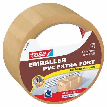 Emballer - Adhésif PVC extra fort transparent 50mmx40ml