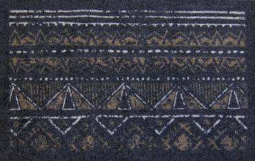 Tapis African Pattern anthracite 40x60cm